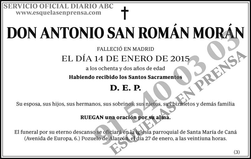 Antonio San Román Morán